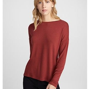 ICONE  Fine Knit Sweater Tee Burgandy
